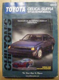 1971-1985 Chilton Toyota Celica and Supra Repair Manual
